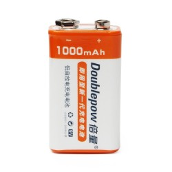 Doublepow 9V 1000mAh LSD Li-ion Rechargeable Battery