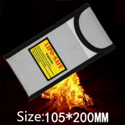 New Surface Fireproof Explosion-proof Li-po Battery Safety Protective Bag 105*200MM