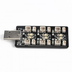 6CH USB To 3.7V 1S Lipo Battery Charging Adapter Board