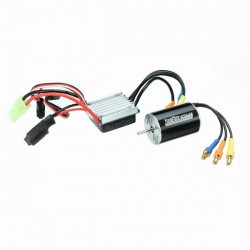 Racerstar 2435 Waterproof Brushless Sensorless Motor 4800KV 25A ESC For 1/16 1/18 RC Car