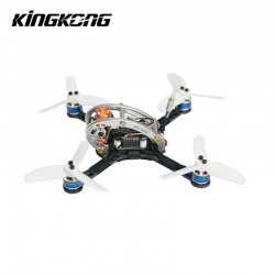 KINGKONG/LDARC FLY EGG 130 130mm RC FPV Racing Drone w/ F3 10A 4in1 Blheli_S 25/100MW 16CH 800TVL PNP BNF