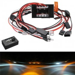 8Leds LED Light kit Set Brake Turn Signal For 2.4G 1/10 RC Car Parts Accessories