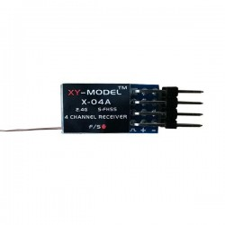 XY-Model XY-04A 2.4G 4CH Mini Receiver For Futaba FASST S-FHSS T6J 14SG 16SG 18SZ Transmitter