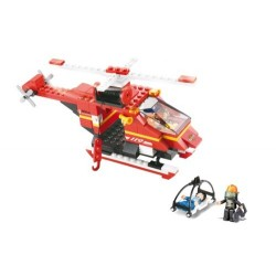 SLUBAN Τουβλάκια Fire, Rescue Helicopter M38-B0218, 155τμχ