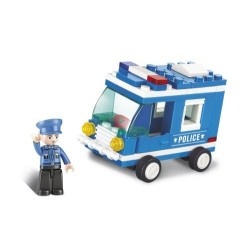 SLUBAN Τουβλάκια Town, Police Van M38-B0177, 64τμχ