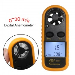 GM816 Digital Anemometer Wind Speed Meter Anemometro Air Guage Temperature 30m/s -10~45C