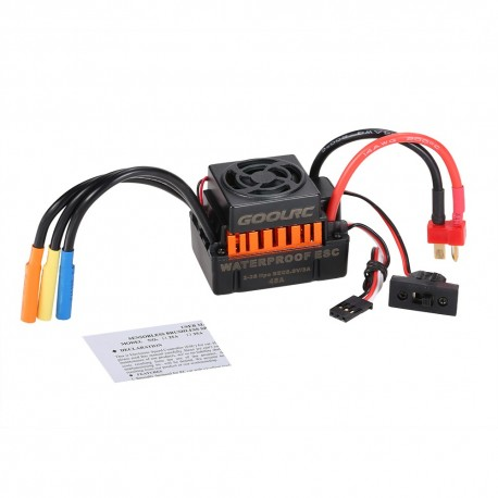 GoolRC Waterproof 60A RC Brushless ESC BEC Car Parts Electric Speed Controller with 5.8V 3A BEC for 1/10 RC Car Truck