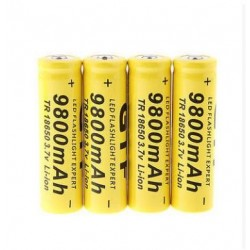4PCs/lot High Quality 9800mAh 3.7V 18650 Lithium ion batteries Rechargeable Battery