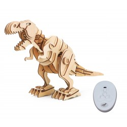 ROKR Ξύλινο 3D πάζλ δεινόσαυρος T-Rex RBT-D200, με κίνηση & ήχο, 102τμχ