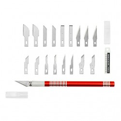 NEWACALOX 19PCS Precision Hobby Knife Stainless Steel Blades for Arts Crafts