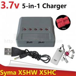 5-in-1 Integrated 3.7V Lipo Battery Adapter Charger USB Interface for Syma X5HC X5HW X5HG X5A-1 XH4.0 Plug USB Charger