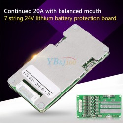 7s Cells 24V 20A Li-ion Lithium 18650 Battery BMS Protection Board
