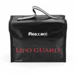 Realacc Fireproof LiPo Battery Safety Bag 215x155x115mm With Luminous Handle