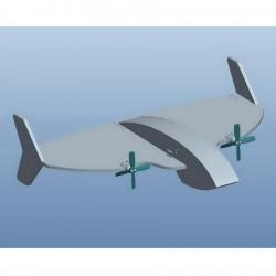 Z-56 380mm Wingspan KIT Board Mini RC Airplane Kit