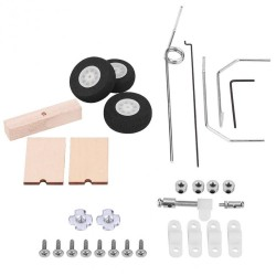 Aircraft KT Board Landing Gear Kits RC Fixed Wing Before Steering For SU27 RC Airplane