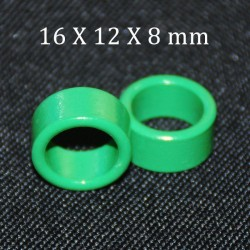 2pcs Green Ferrite Bead 16X12X8mm Toroide Cores Coil Inductor Ring Cable Filter