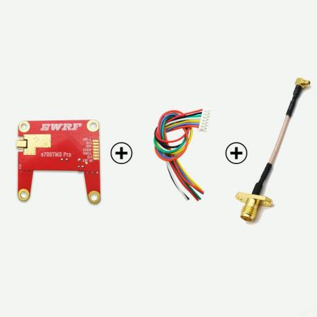 EWRF e709TM3 Pro 5.8G 48CH 25mW/200mW/500mW/OFF Power Adjustable FPV VTX Video Transmitter