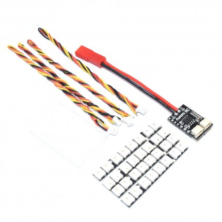 AuroraRC 8 Bits WS2812B RGB5050 LED Board 5V w/ Control Board 2-6S For F3 F4 FPV Racing RC Drone