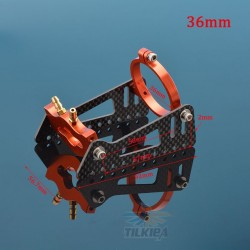 RC Boat 40 Series Water Cooling Motor Mount Holder Carbon Fiber Mounting Bracket for Brushless Motor