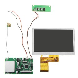 RX5808 5.8G 48CH FPV Receiver with 480*320 5 Inch HD Display Snow Screen Monitor DIY For FPV Goggles