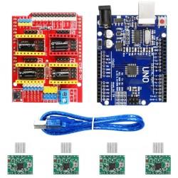 V3.0 Engraver CNC Shield+Board+A4988 Stepper Motor Drivers For UNO R3 for Arduino