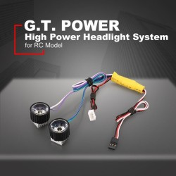 G.T.POWER High Power System Headlight Super Bright LED Light / Lamp for RC Car RC Crawler Airplane Boat Accessories