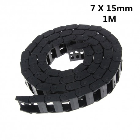1Meter Plastic Transmission Drag Chain for Machine Cable Drag Chain Wire Carrier with end connectors