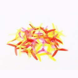 10 Pairs KINGKONG/LDARC 5040 5x4x3 3-Blade CW CCW Clear Single Color Propellers for RC Drone