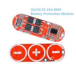 3S/4S/5S BMS 25A 18650 Li-ion Lithium Battery Protection Circuit Charging Board