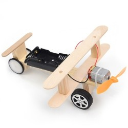 Wood Electric Aircraft Electric Glider DIY Kit Kids Toy Airplane DIY Kit Electric Wooden Airplane Model