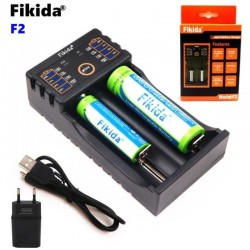Fikida F2 18650 charger 1.2V 3.7V 3.2V 3.85V AA / AAA 18350 26650 10440 14500 16340 25500 NiMH lithium battery charger