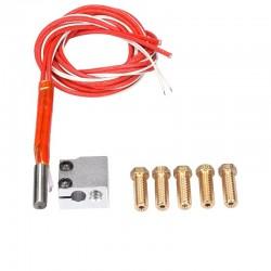 3D printer parts 3D Volcano hot end eruption pack kit/set heater block+nozzle pack for 3D Printer filament 1.75