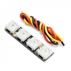 0.7g Super Mini WS2812B RGB5050 4 Bit Colorful LED Strip for Naze32 F3 F4 Flight Controller RC Drone