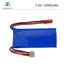WL 7.4V 1200mAh 30C Lipo Battery For YiZhan Tarantula X6 MJX X101 X102h X1Brushless H16 WLtoys V666 V262 V353 V333 V323