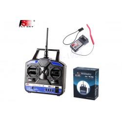FlySky FS-T4B 4CH 2.4GHz + receiver R6B
