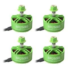 4X Racerstar 2508 BR2508S Green Edition 1275KV 4-6S Brushless Motor For FPV Racing RC Drone