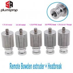 V6 Heat Sink Long Distance J-head Hotend All Metal Remote Bowden Block with Heat Break for 1.75mm 3.0mm Filament 3D Printer Part