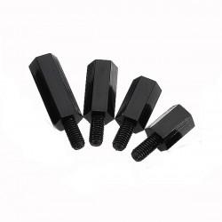 Suleve™ M3NH13 50pcs M3 Nylon Black Hex Screw PCB Standoff 6/8/10/12mm