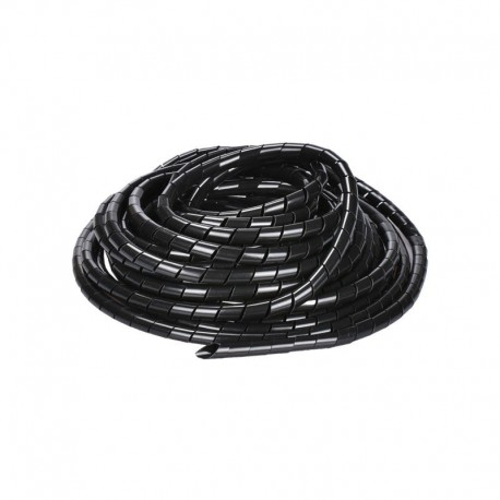 Black/White 8mm 10.5M PE YL692 Flexible Spiral Wrapping Wire Hiding Cable Sleeves for 3D Printer