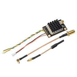 TX805S 5.8GHz 40CH 25/500/1000/1600mW AV FPV TX VTX LED Display With Mic Heatsink OSD/Pitmode/Smart Audio for RC Long Range