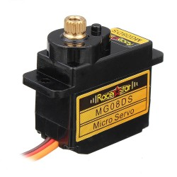 Racerstar MG08DS 12g Micro Metal Gear Analog Servo For RC Helicopter Car Airplane Robot