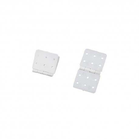 RJXHOBBY 20x37mm Small Pinned Nylon Hinge Replacement Parts For RC Airplane