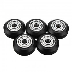5Pcs V-slot POM Material Big Pulley Wheel with Bearings for 3D Printer Accessories
