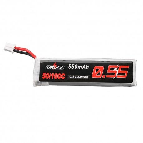 URUAV 3.8V 550mAh 50/100C 1S HV 4.35V PH2.0 Lipo Battery for Emax Tinyhawk Kingkong/LDARC TINY