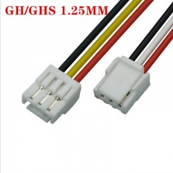 1 PC 2P/3P/4P/5P/6/7/8 Pin JST GH Series 1.25 Female Double Connector with Wire 150MM 1007 28 AWG GH1.25 1.25MM