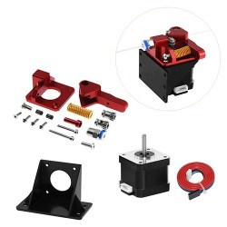 Aluminum upgrade dual gear CR10 CR-10s PRO printer reprap prusa i3 1.75mm drive feed double pulley