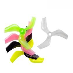 2Pairs Gemfan 75mm Ducted Props PC 3-Blade Propeller CW CCW 5mm Hole for 1408-1808 Motor Cinewhoop Cinedrone