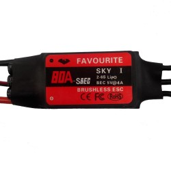 Favourite FVT Sky Series 80A 2-6S Brushless ESC With 5V 4A SBEC For RC Airplane