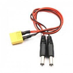 XT60 Male to DC 5.5/3.5 Power Cable For FPV Goggles Battery Receiver Monitor