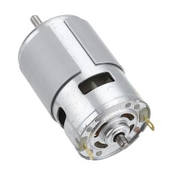 HANPOSE 775 Motor DC 12V 24V 150W DC Motor Large Torque High Power DC Motor Double Ball Bearing Spindle Motor - 15000RPM
